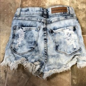 gogo star Shorts - Distressed jean shorts